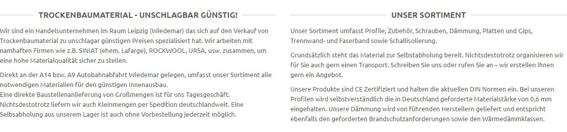Rigips und Ansetzbinder, Putz, Gipsspachtel, Haftputz, Gips,  in  Borxleben